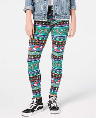 Planet Gold Juniors' Printed Holiday Leggings