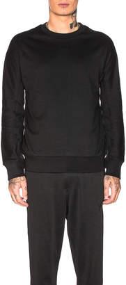 Yohji Yamamoto Y 3 Y-3 Classic Crew Sweater in Black   FWRD