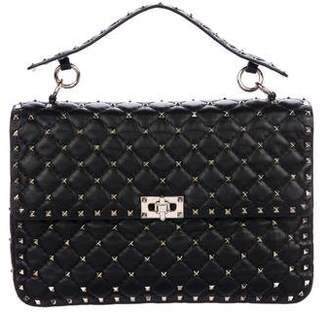 Valentino Large Rockstud Spike Leather Shoulder Bag