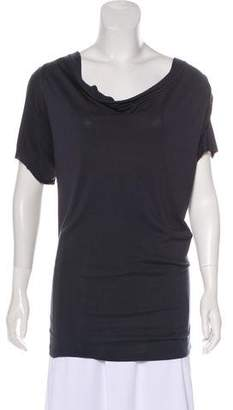 Etoile Isabel Marant Short Sleeve Cowl Neck Top