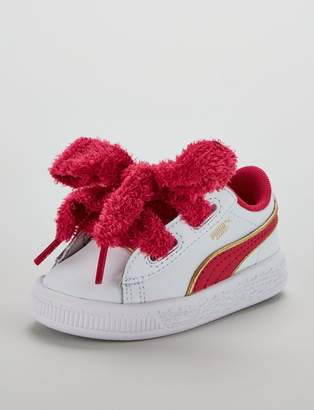 Puma Minions Basket Heart Fluffy Infant Trainer