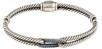 David Yurman Sapphire Petite Pavé Mini Loop Bracelet