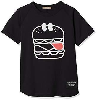 nico hrat (ニコ フラート) - [ニコフラート] Tシャツ ハンバーガーTシャツ キッズ 290104 ブラック 日本 100 (日本サイズ100 相当)
