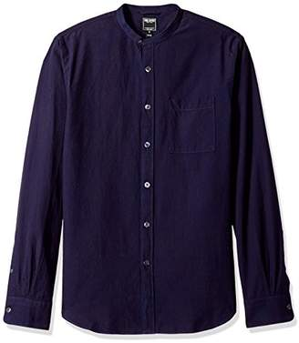 Todd Snyder Men's Band Collar Pocket Shirt