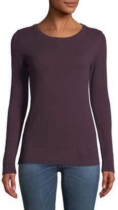 Neiman Marcus Cashmere Modern Crewneck Sweater