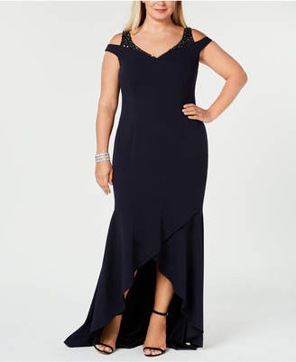 9f957825dca ... Macy s · Adrianna Papell Plus Size Cold-Shoulder Gown