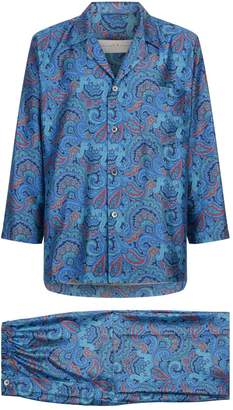 Daniel Hanson Silk Paisley Pyjamas