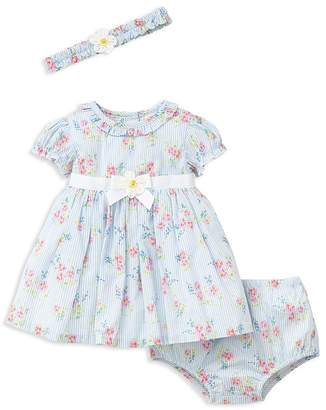 Little Me Girls' Springtime Dress, Romper & Headband Set - Baby