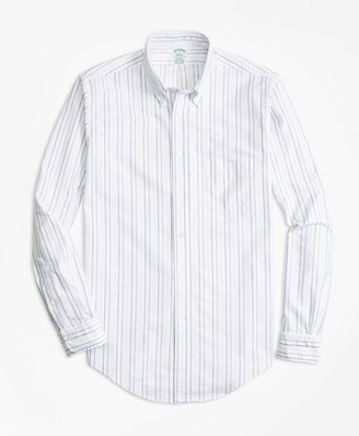 Brooks Brothers Milano Fit Oxford Multi-Stripe Sport Shirt