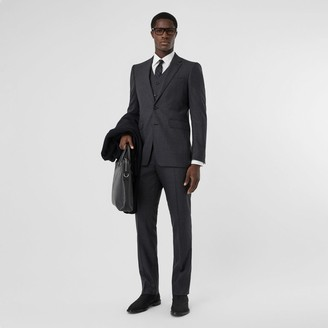 Burberry Classic Fit Windowpane Check Wool Three-piece Suit