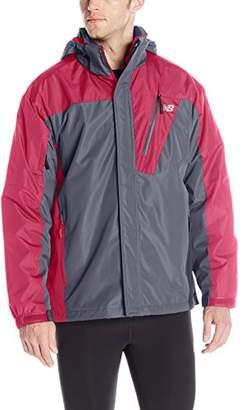 New Balance Men's 2 Tone Laminated Polyester Systems Jacket