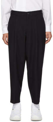 Comme des Garcons Navy Thick Gabardine Trousers