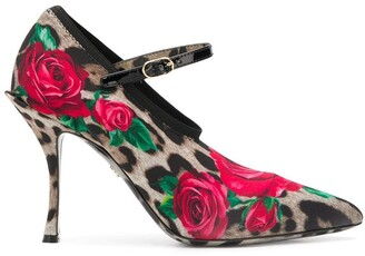 Dolce & Gabbana Mary Jane printed pumps