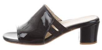 Taryn Rose Patent Leather Slide Sandals