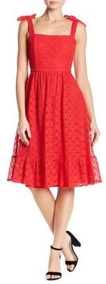 NSR Floral Lace Midi Dress