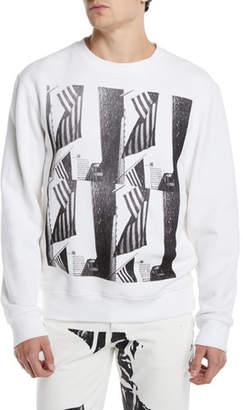 Calvin Klein Men's Flags Graphic Sweatshirt