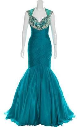 Mac Duggal Embellished Mermaid Gown w/ Tags