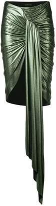 Alexandre Vauthier ruched metallic skirt