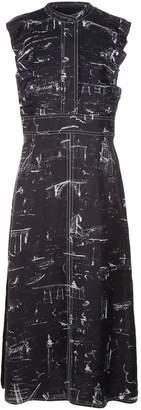 Burberry Landmark Ruffle Silk Midi Dress
