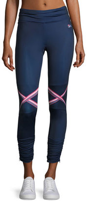 Fila MB Court Central Sport Leggings, Blue $180 thestylecure.com