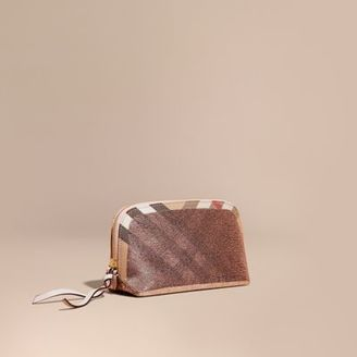 Burberry Large Zip-top Sequin and House Check Pouch $295 thestylecure.com