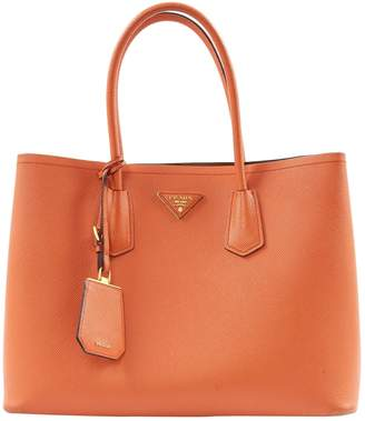 Prada Orange Leather Handbag