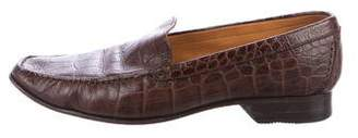 choice cheap price a.testoni Embossed Leather Loafers release dates authentic WqeR1