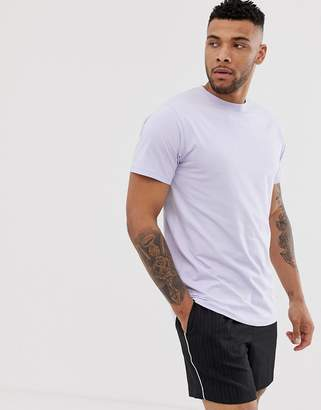 Soul Star longline t-shirt in lilac