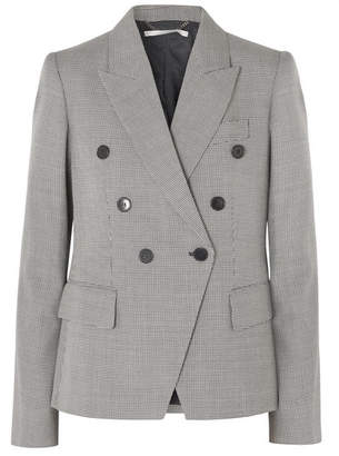 Stella McCartney Double-breasted Wool-tweed Blazer - Navy