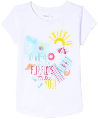 Nautica Flip Flops Pool T-Shirt