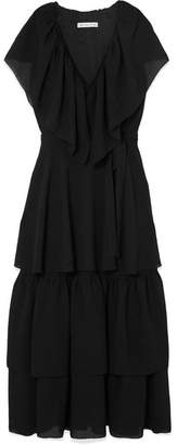 DAY Birger et Mikkelsen REJINA PYO - Renata Tiered Crinkled-crepe Midi Dress - Black