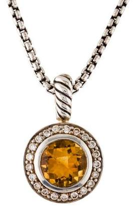 David Yurman Citrine & Diamond Cerise Pendant Necklace