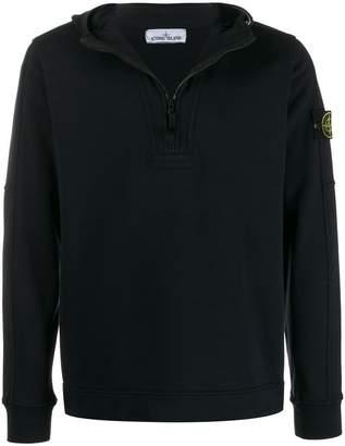 Stone Island logo embellished hoodie