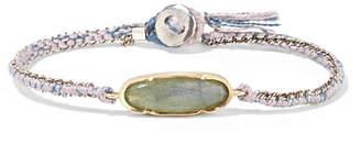 Brooke Gregson Icicle 14-karat Gold, Sterling Silver, Silk And Labradorite Bracelet