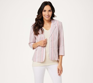 Laurie Felt Stripe Crop Blazer