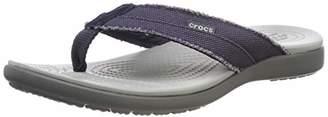 Crocs Men's Santa Cruz Canvas Flip Men Flip Flop, (10 US)