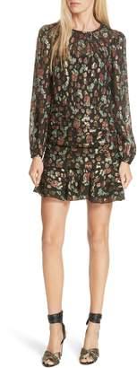 Veronica Beard Robin Silk Blend Jacquard Minidress