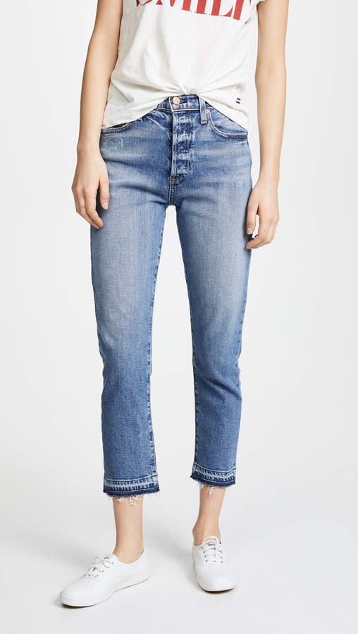 AO.LA by alice + olivia Amazing High Rise Girlfriend Jeans