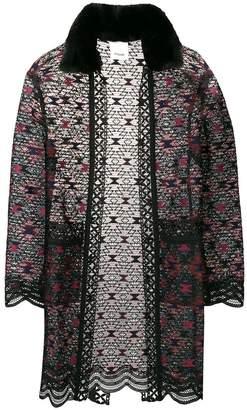 Pinko macramé kimono