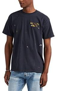 Gallery Department Men's Paint-Splattered Logo Washed Cotton Jersey T-Shirt - Black