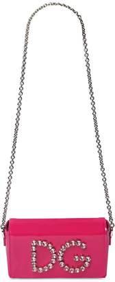 Dolce & Gabbana Crystal Patent Leather Shoulder Bag
