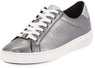 fe547a5da347 MICHAEL Michael Kors Irving Metallic Leather Low-Top Sneakers