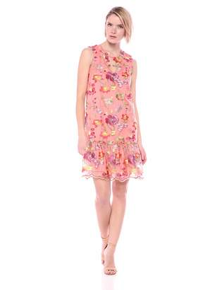Trina Turk Trina Women's Babs Sleeveless Drop Founce Dress