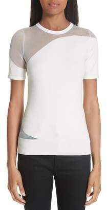 Cushnie et Ochs Sheer Panel Knit Top