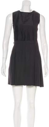 Proenza Schouler Sleeveless Pleated Mini Dress