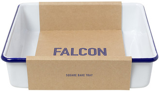 Falcon Square Bake Tray - White with Blue Rim