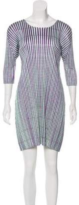 Pleats Please Issey Miyake Pleated Mini Dress