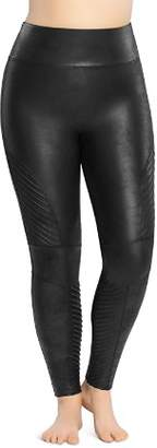 Spanx Plus Moto Faux Leather Leggings