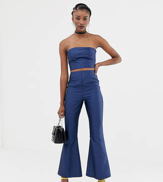 Reclaimed Vintage inspired two-piece flare pants in satin