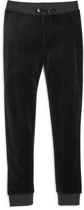 Juicy Couture Black Label Girls' Zuma Velour Jogger Pants, Big Kid - 100% Exclusive